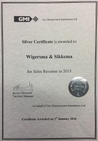GMI zilveren certificaat Sales Performance 2015